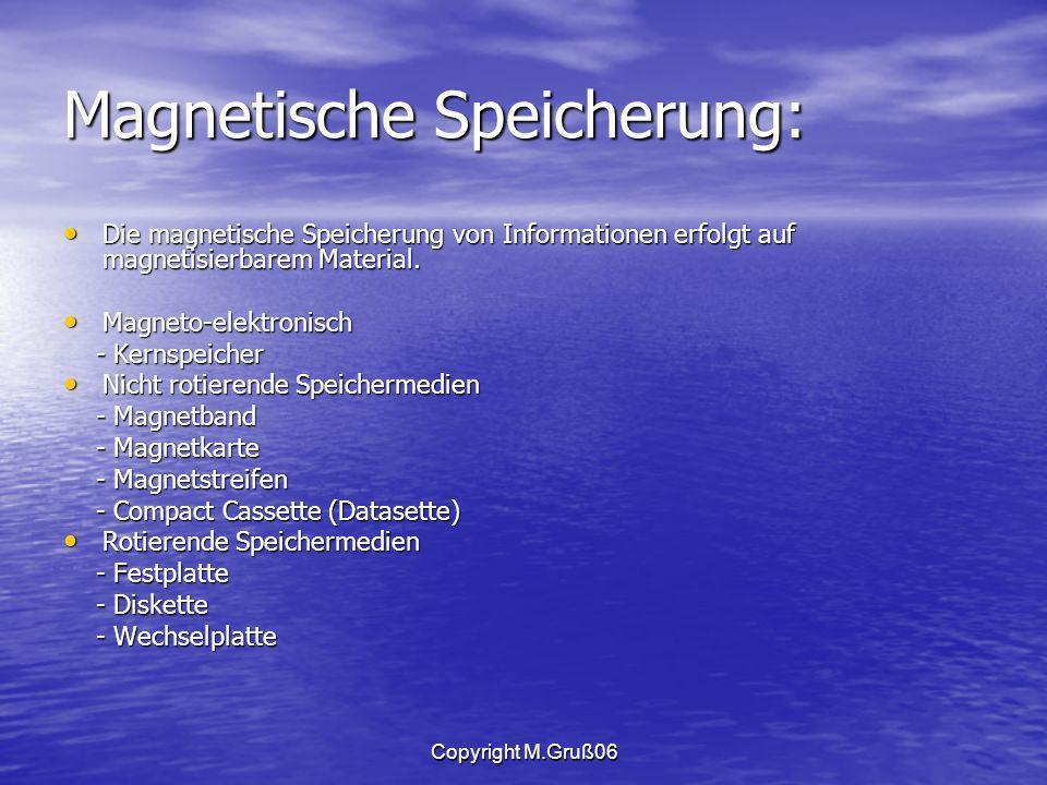 Magnetische Speicherung: