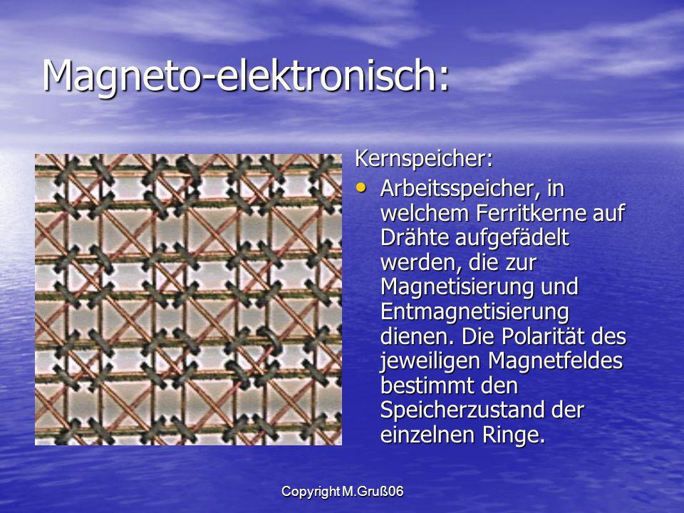 Magneto-elektronisch: