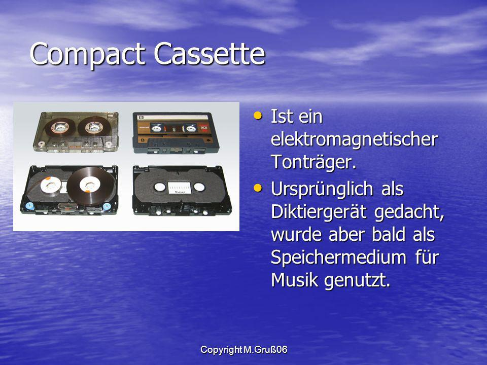 Compact Cassette Ist ein elektromagnetischer Tonträger.