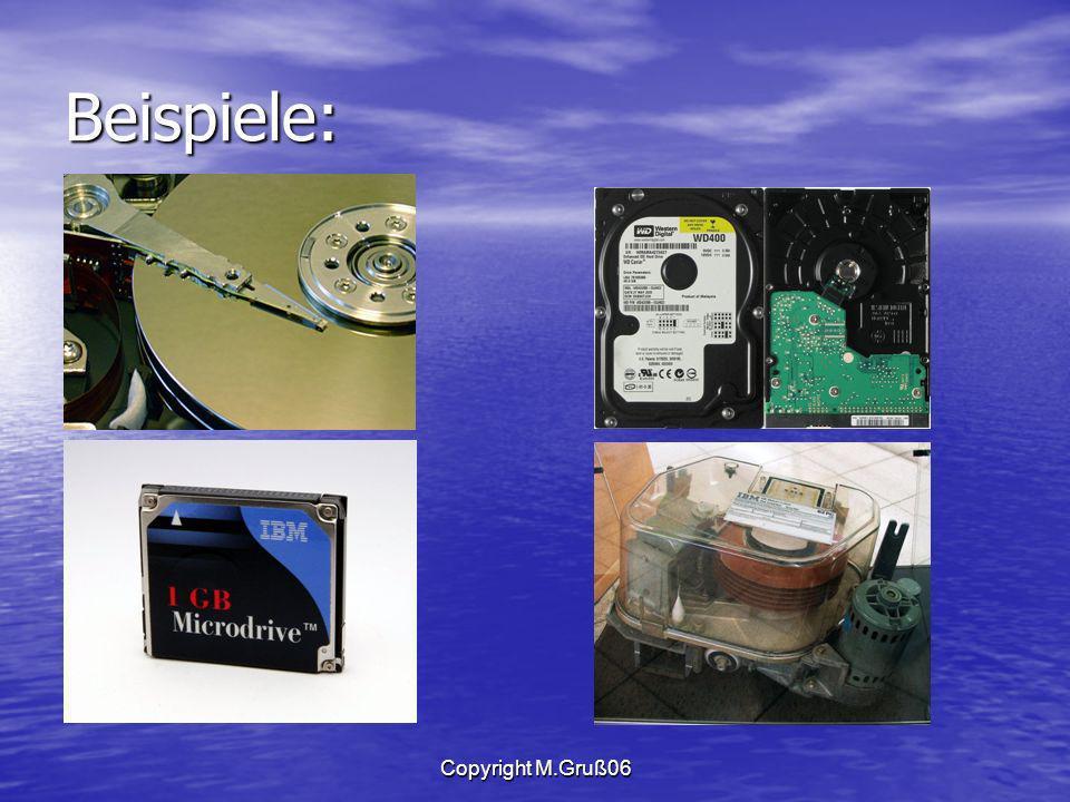 Beispiele: Copyright M.Gruß06