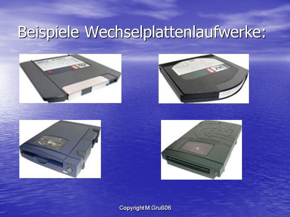 Beispiele Wechselplattenlaufwerke:
