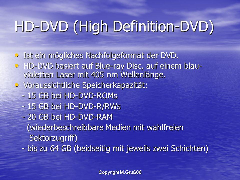 HD-DVD (High Definition-DVD)