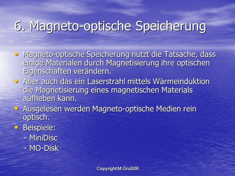 6. Magneto-optische Speicherung