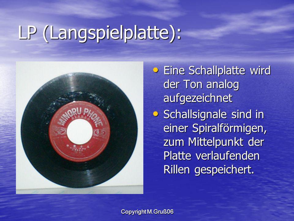 LP (Langspielplatte):