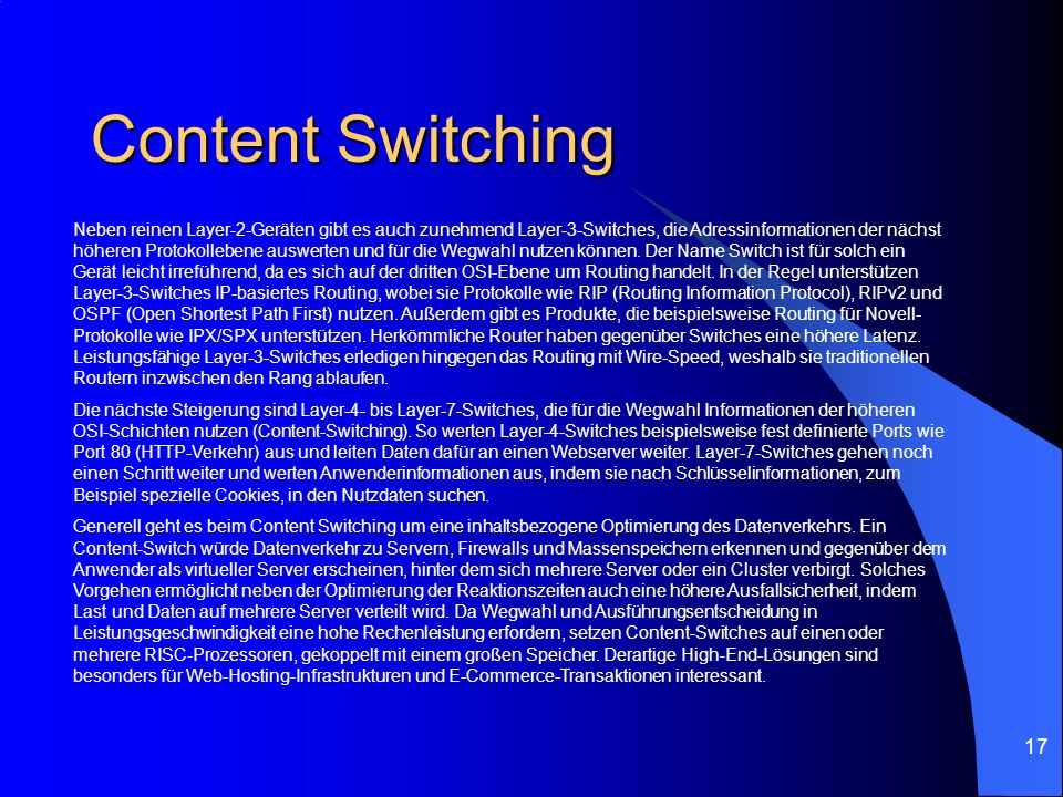 Content Switching