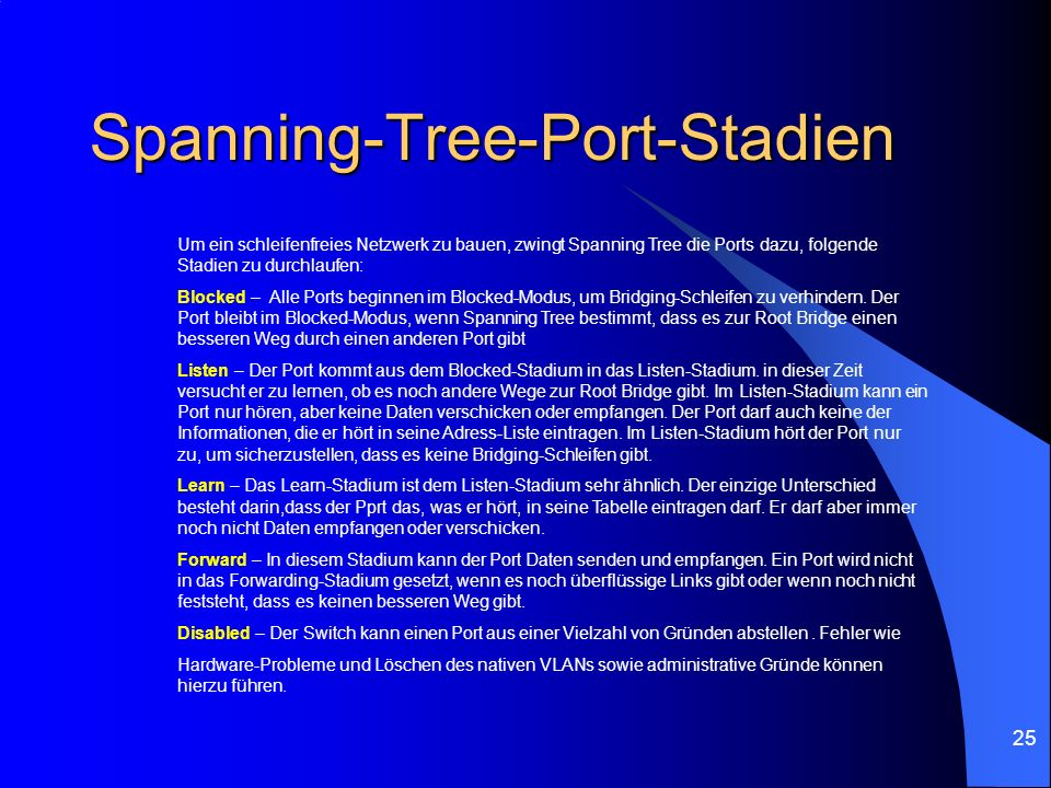 Spanning-Tree-Port-Stadien