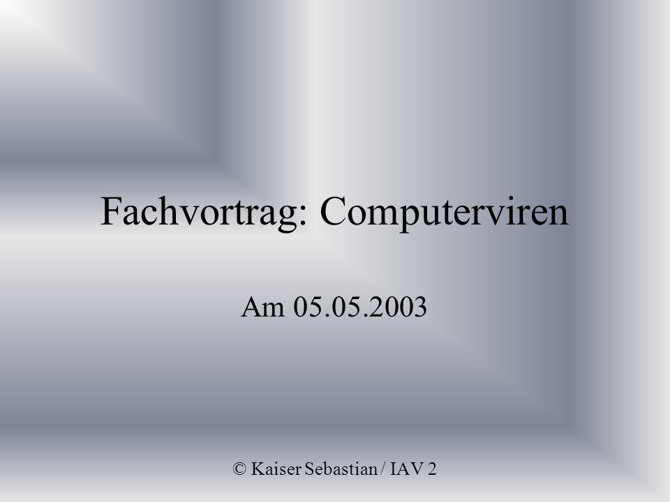 Fachvortrag: Computerviren