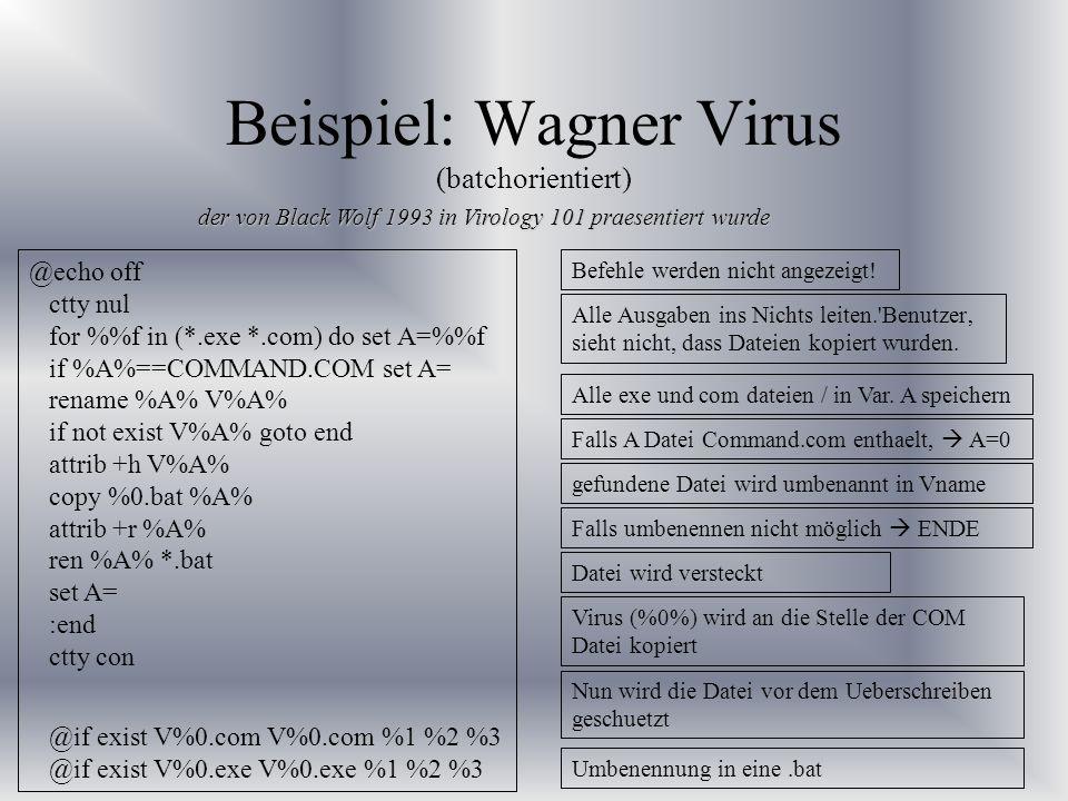 Beispiel: Wagner Virus (batchorientiert)