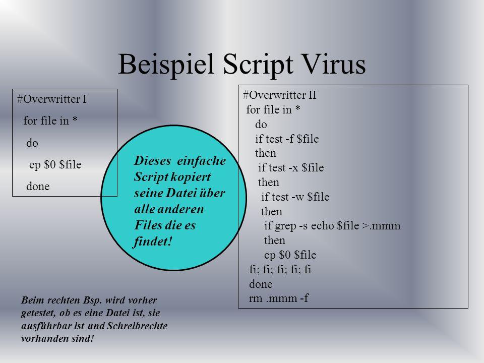 Beispiel Script Virus