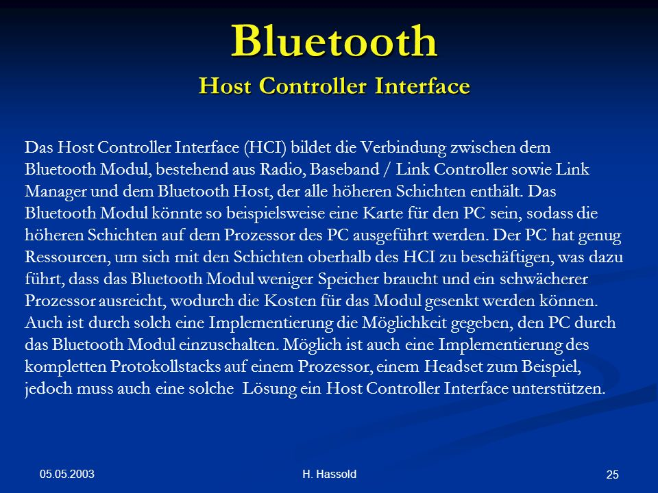 Bluetooth Host Controller Interface