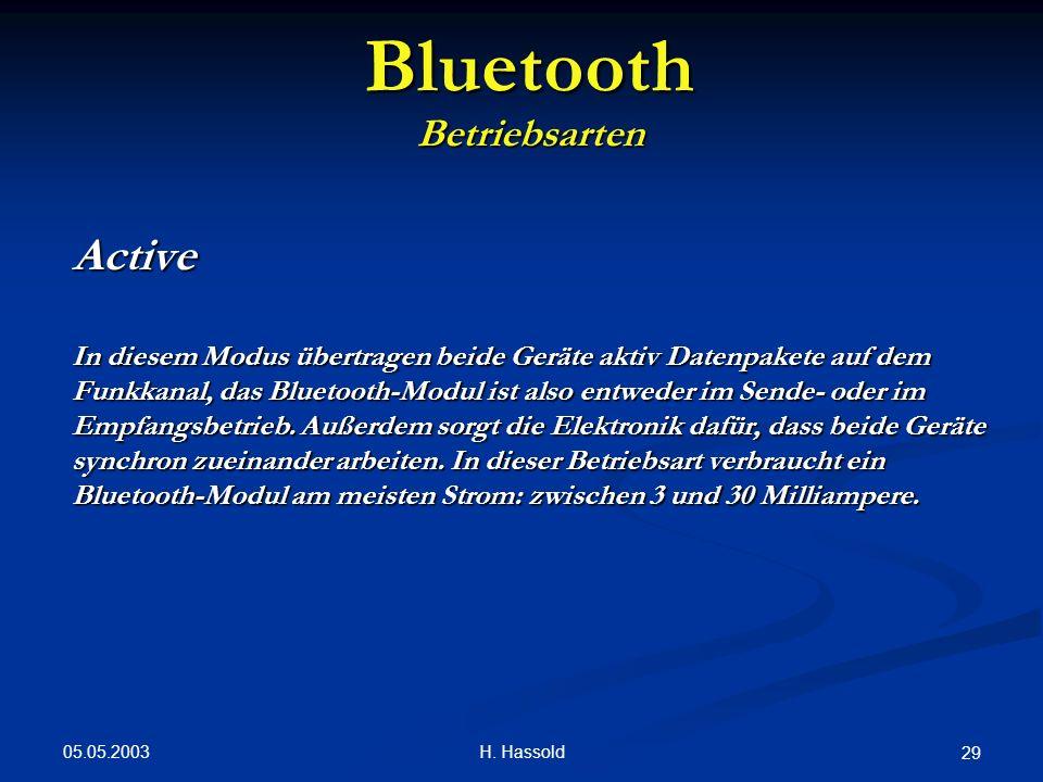 Bluetooth Betriebsarten.