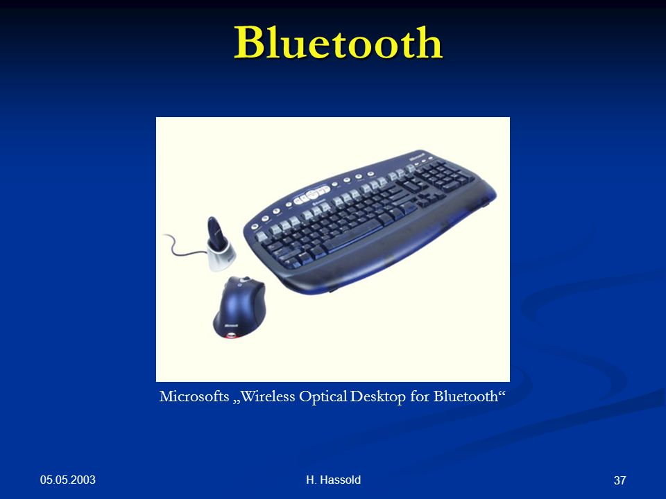 "Bluetooth Microsofts ""Wireless Optical Desktop for Bluetooth"