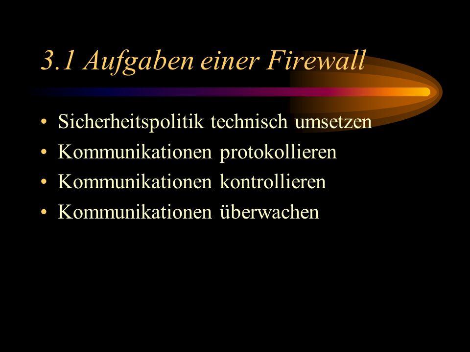 3.1 Aufgaben einer Firewall