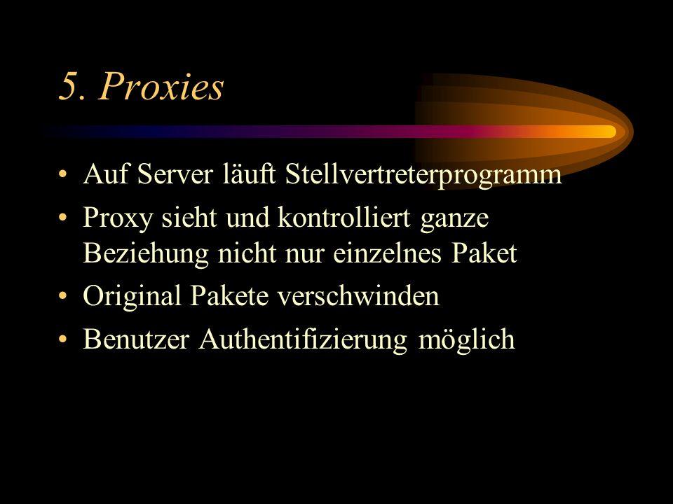 5. Proxies Auf Server läuft Stellvertreterprogramm