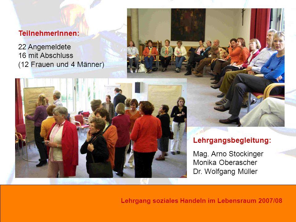 Lehrgang soziales Handeln im Lebensraum 2007/08