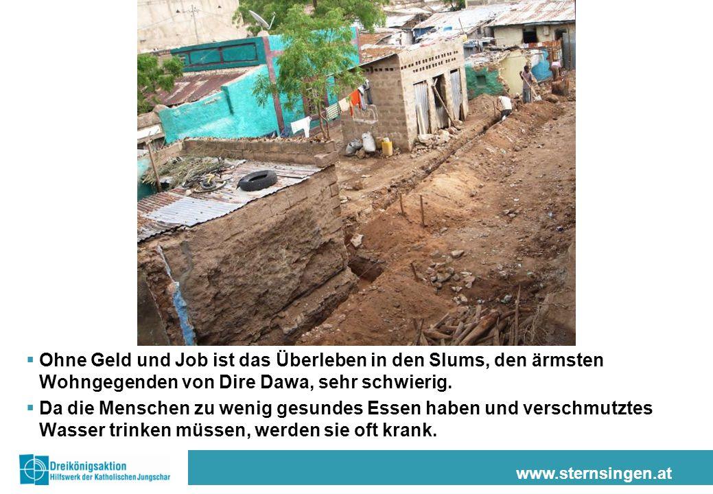 Ohne Geld und Job ist das Überleben in den Slums, den ärmsten Wohngegenden von Dire Dawa, sehr schwierig.