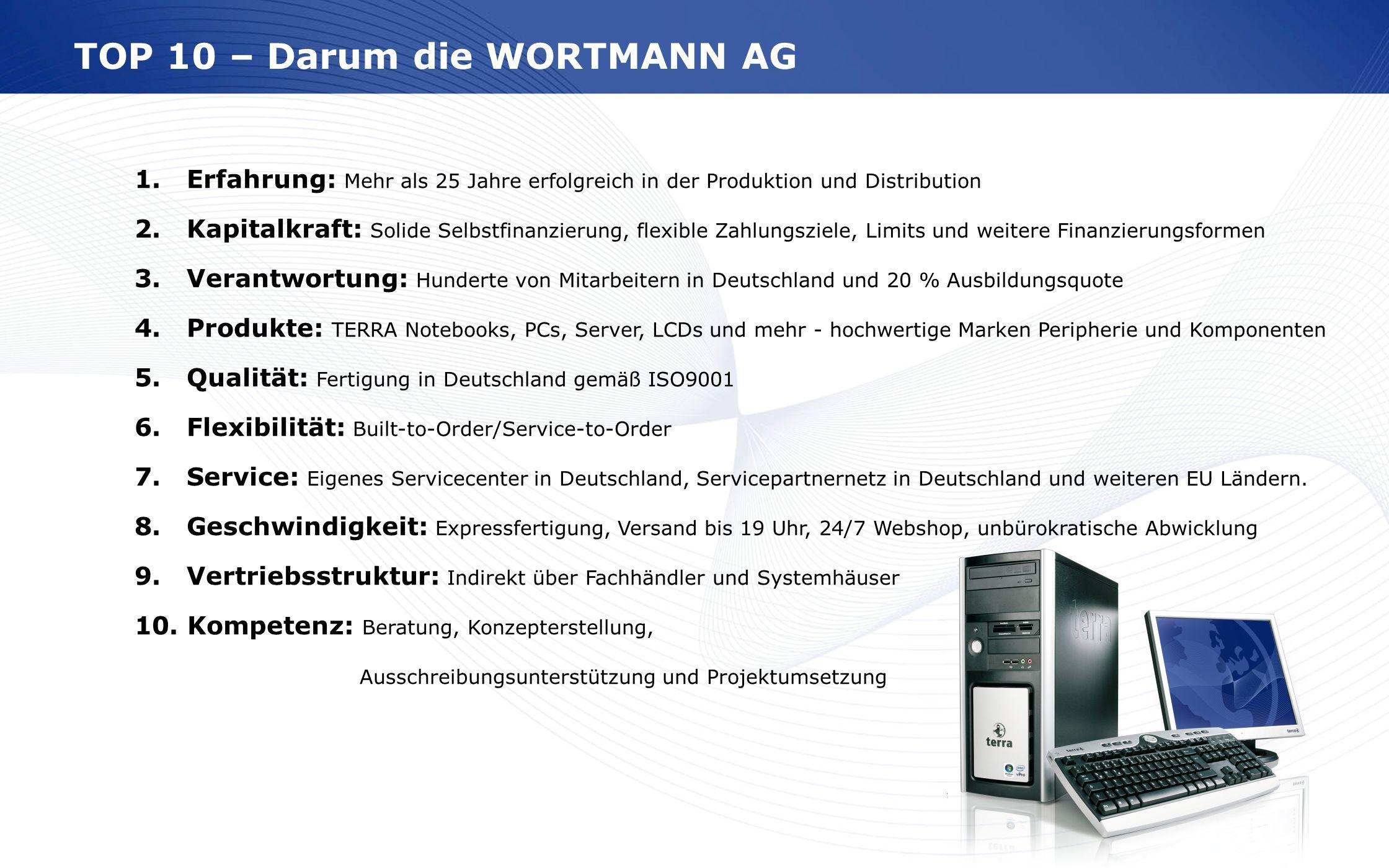 TOP 10 – Darum die WORTMANN AG