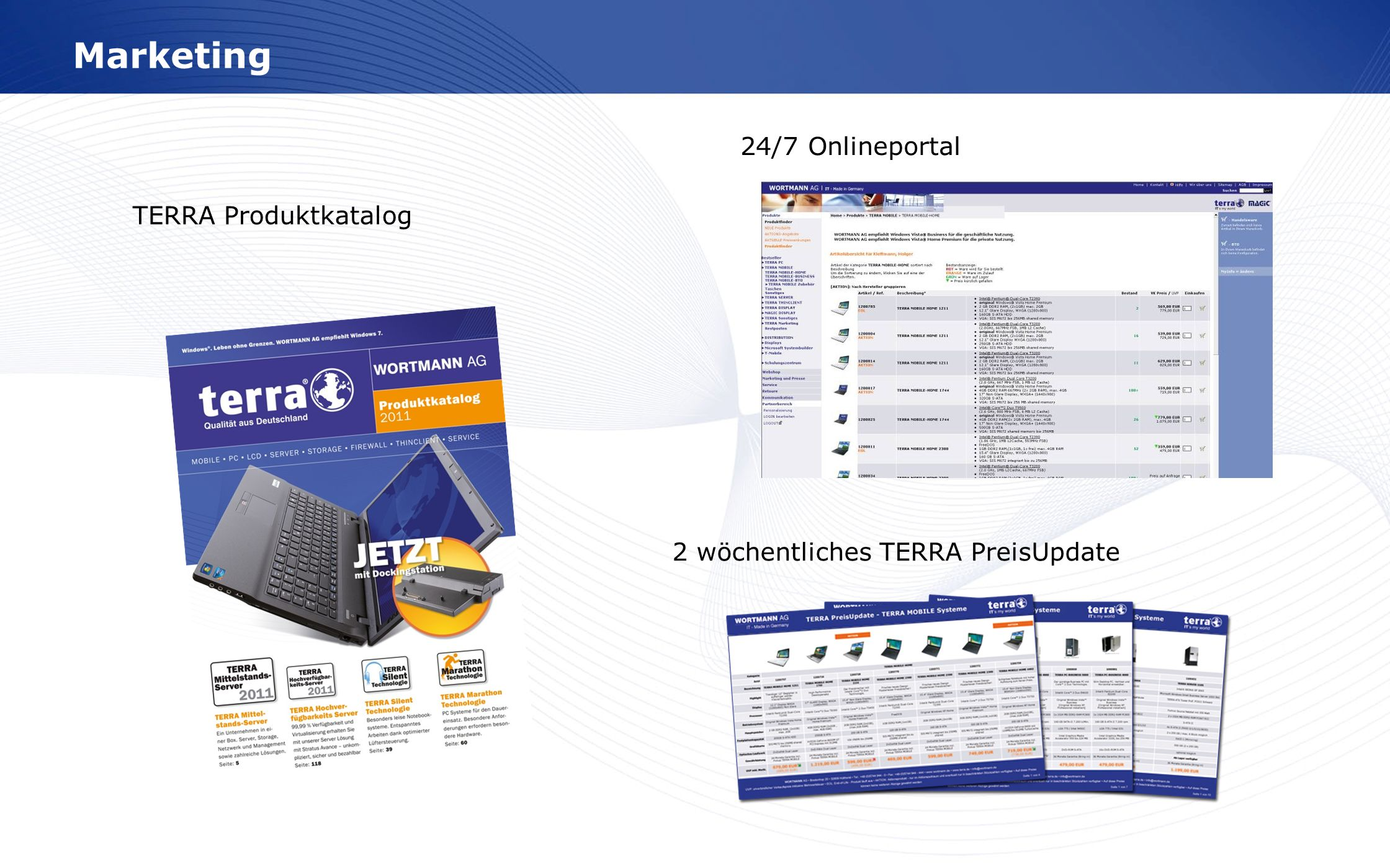 Marketing 24/7 Onlineportal TERRA Produktkatalog