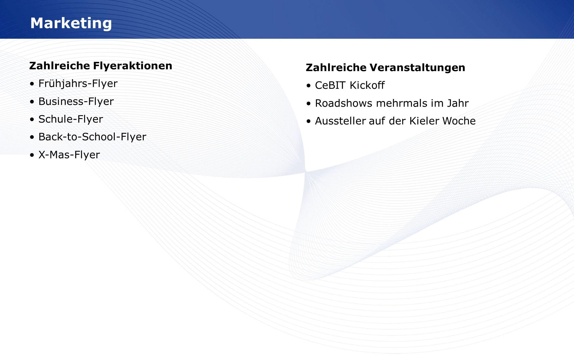 MarketingZahlreiche Flyeraktionen • Frühjahrs-Flyer • Business-Flyer • Schule-Flyer • Back-to-School-Flyer • X-Mas-Flyer.