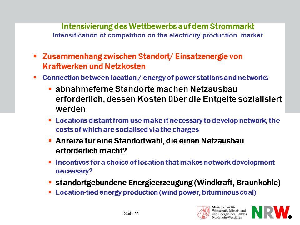 Intensivierung des Wettbewerbs auf dem Strommarkt