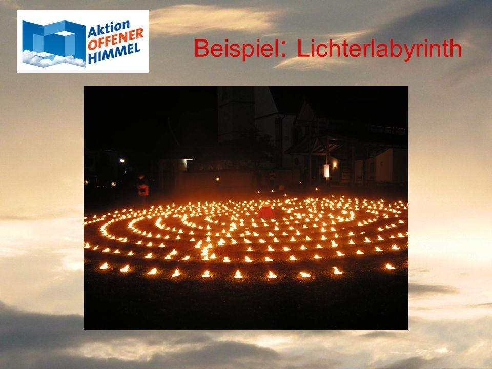 Beispiel: Lichterlabyrinth