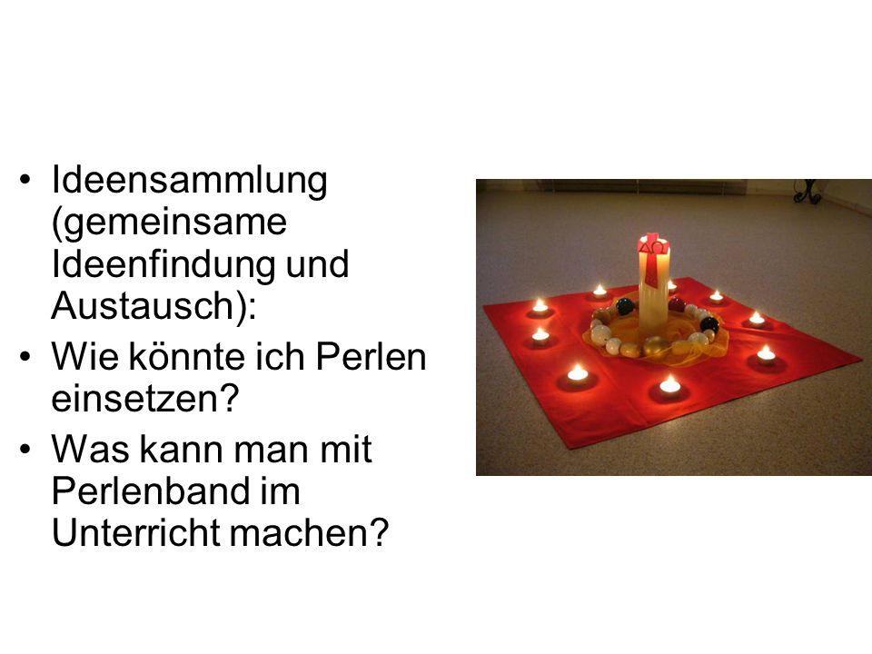 Ideensammlung (gemeinsame Ideenfindung und Austausch):