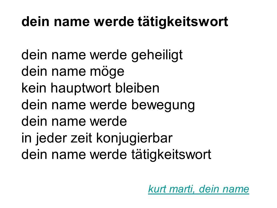 dein name werde tätigkeitswort dein name werde geheiligt