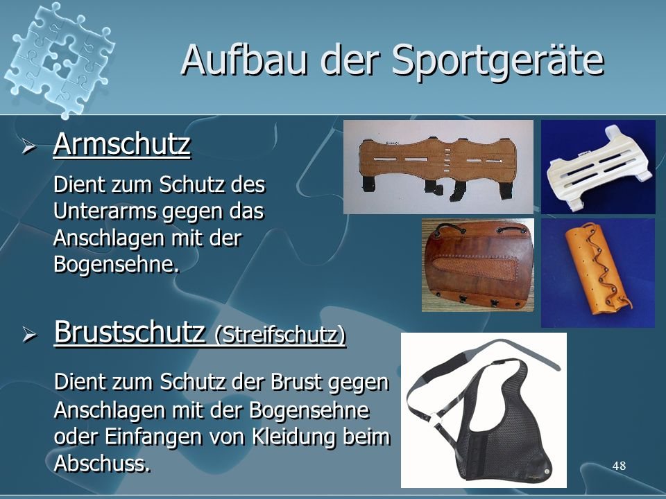 Aufbau der Sportgeräte
