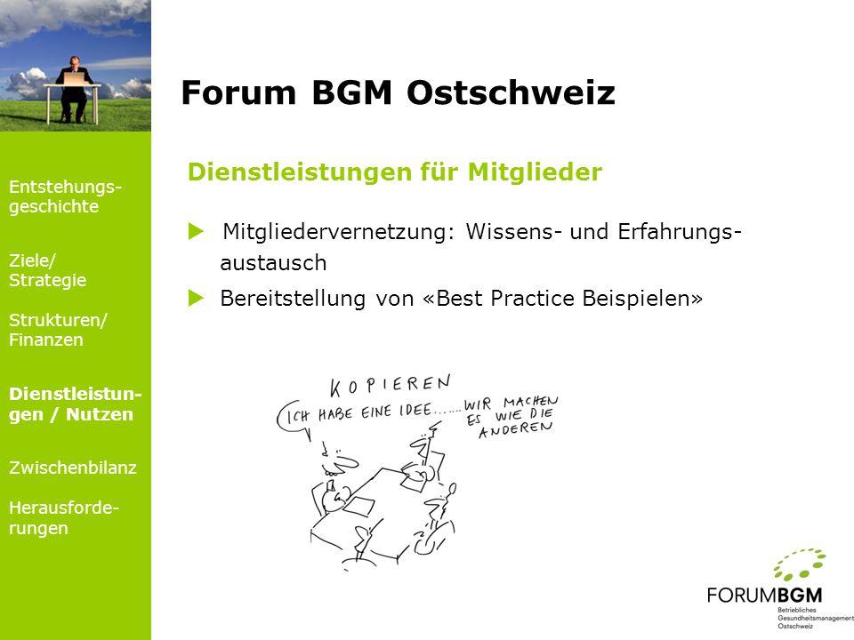 Forum BGM Ostschweiz Dienstleistungen für Mitglieder