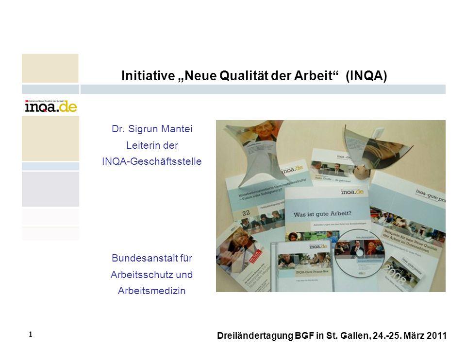 """Initiative """"Neue Qualität der Arbeit (INQA)"""