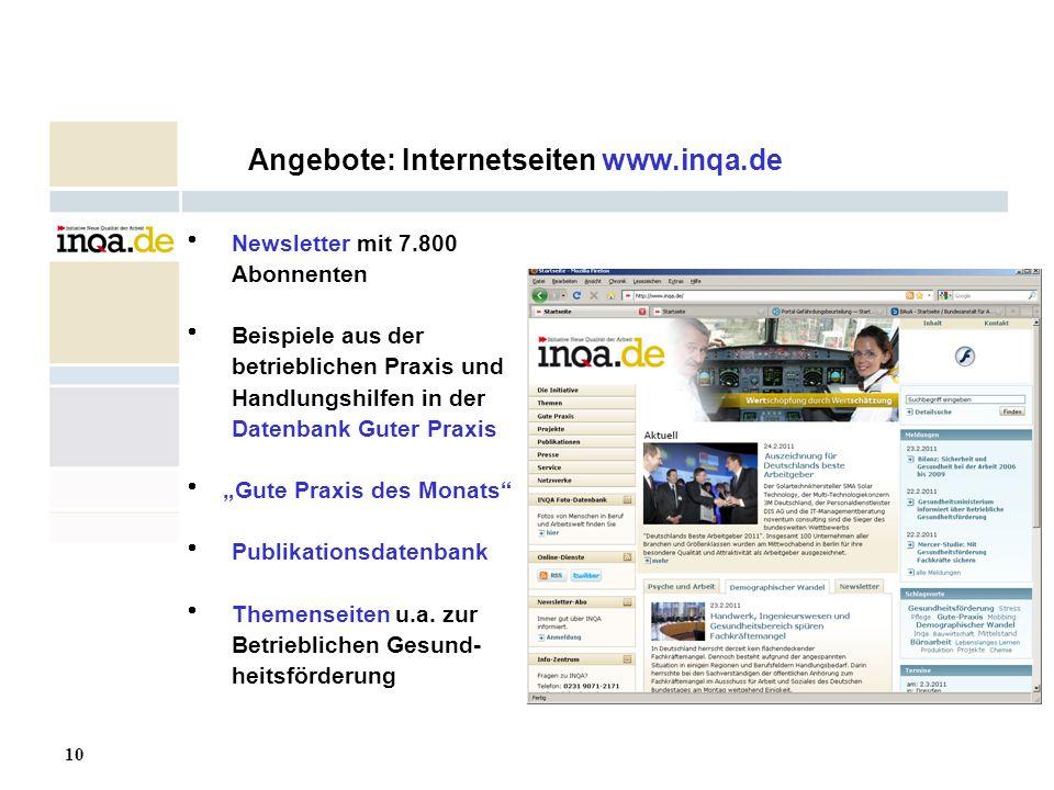Angebote: Internetseiten www.inqa.de