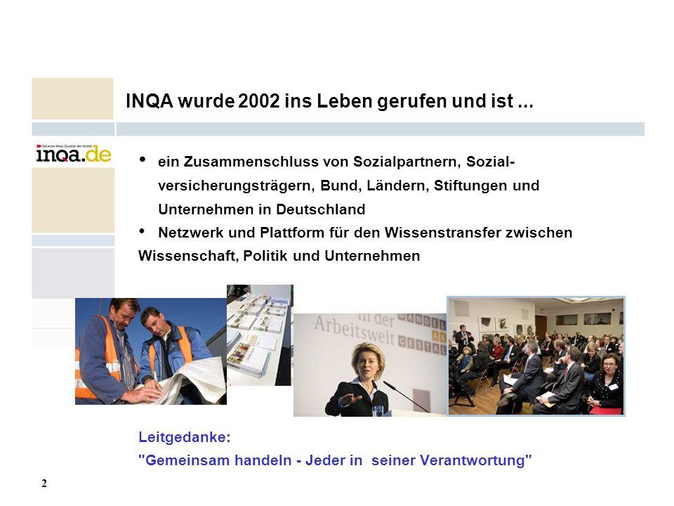 INQA wurde 2002 ins Leben gerufen und ist ...