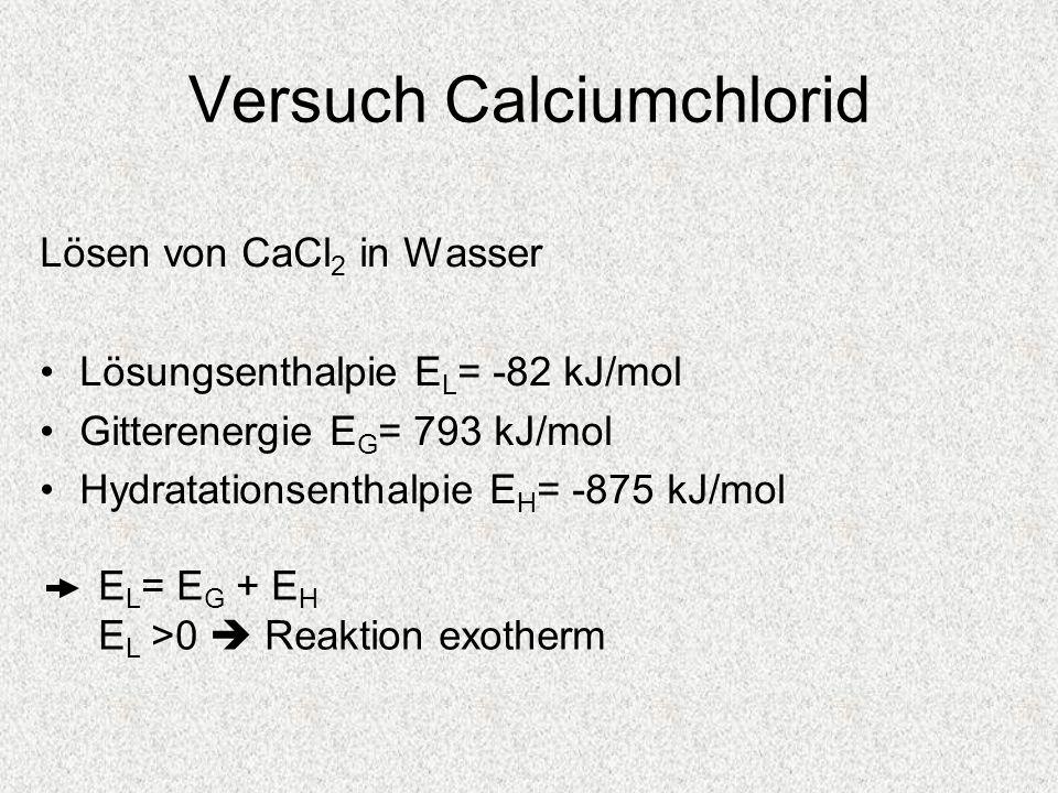 Versuch Calciumchlorid