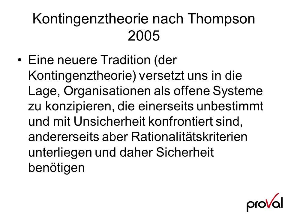 Kontingenztheorie nach Thompson 2005