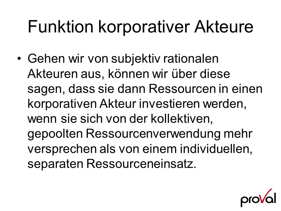 Funktion korporativer Akteure
