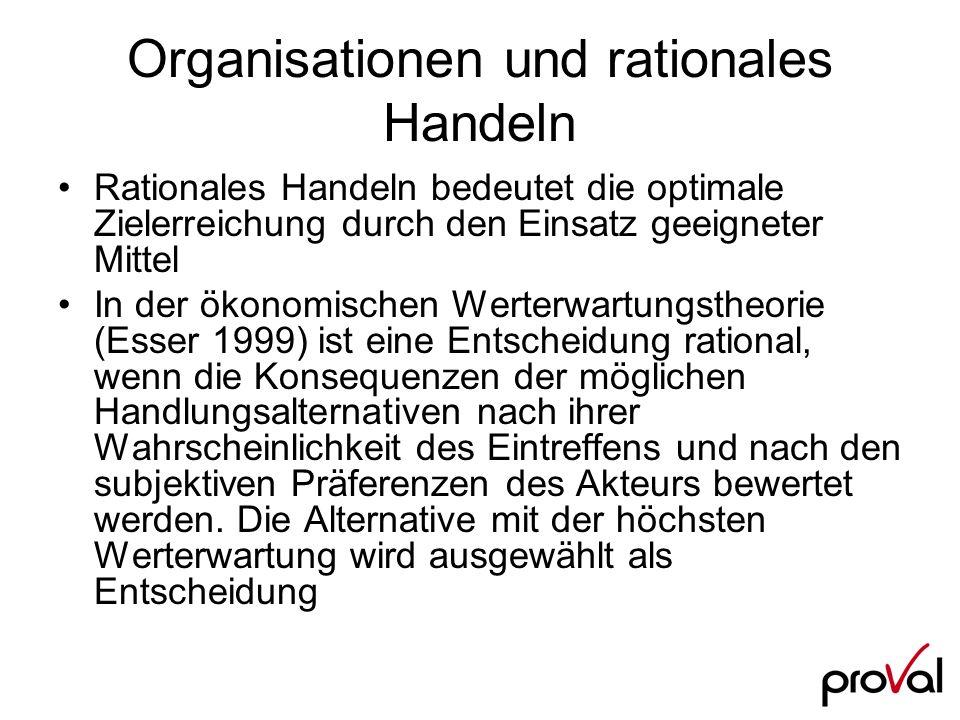 Organisationen und rationales Handeln