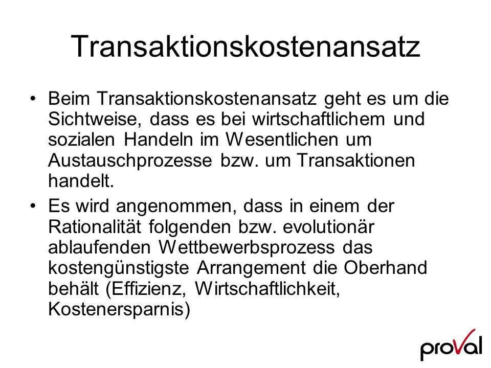 Transaktionskostenansatz