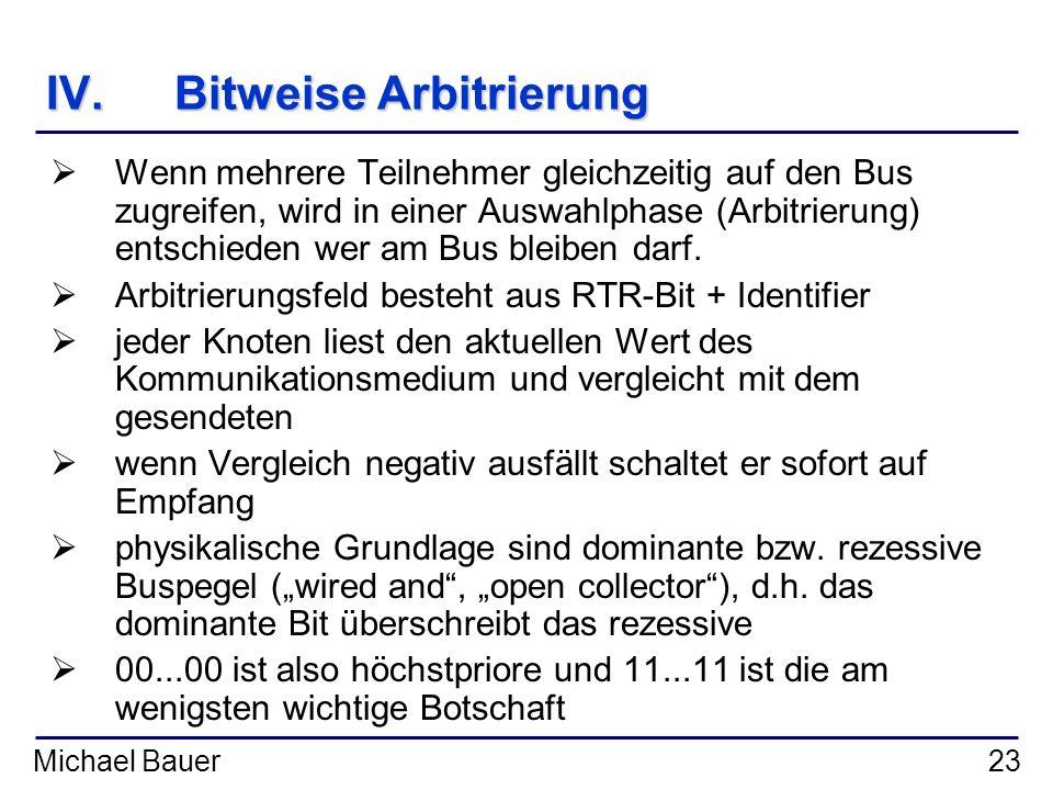 IV. Bitweise Arbitrierung