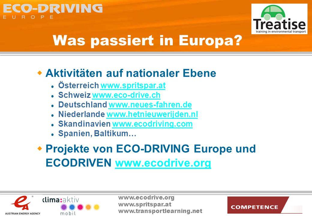 Was passiert in Europa Aktivitäten auf nationaler Ebene