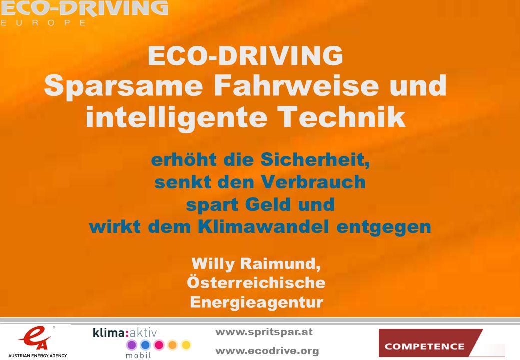 ECO-DRIVING Sparsame Fahrweise und intelligente Technik