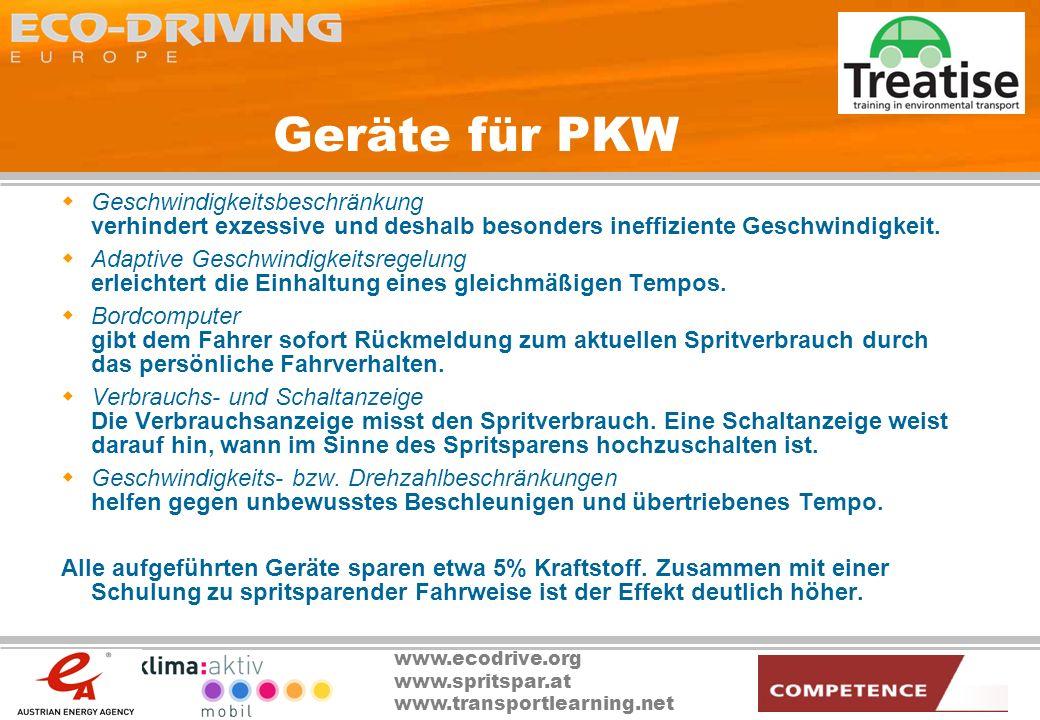 Geräte für PKW Geschwindigkeitsbeschränkung verhindert exzessive und deshalb besonders ineffiziente Geschwindigkeit.