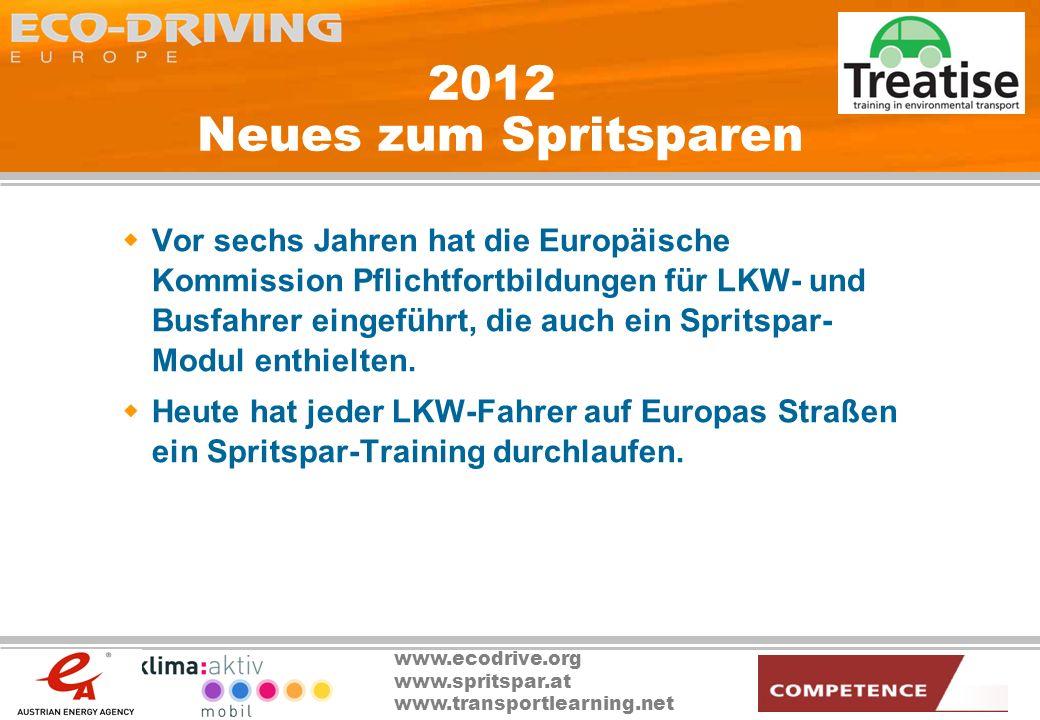 2012 Neues zum Spritsparen