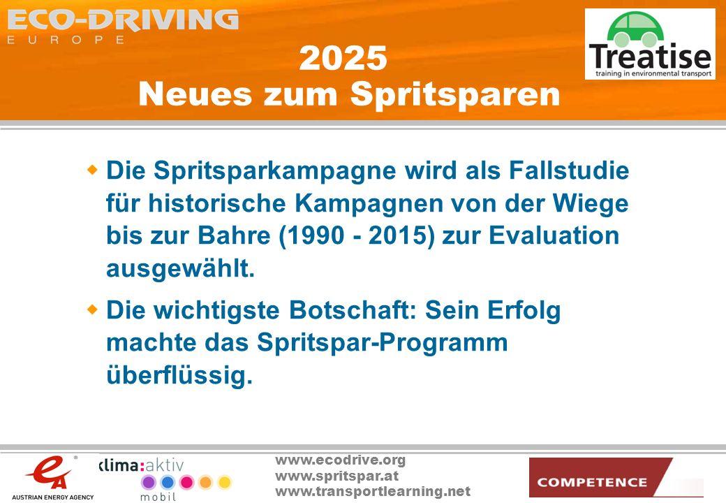 2025 Neues zum Spritsparen
