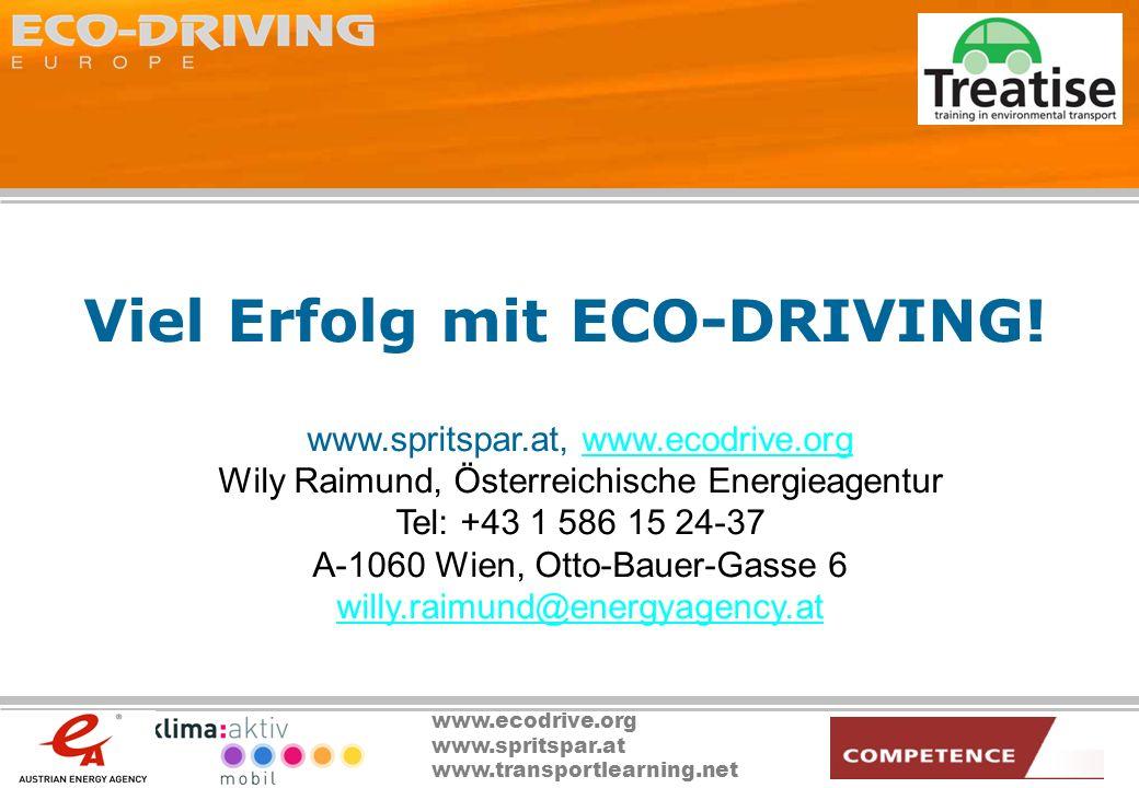 Viel Erfolg mit ECO-DRIVING!