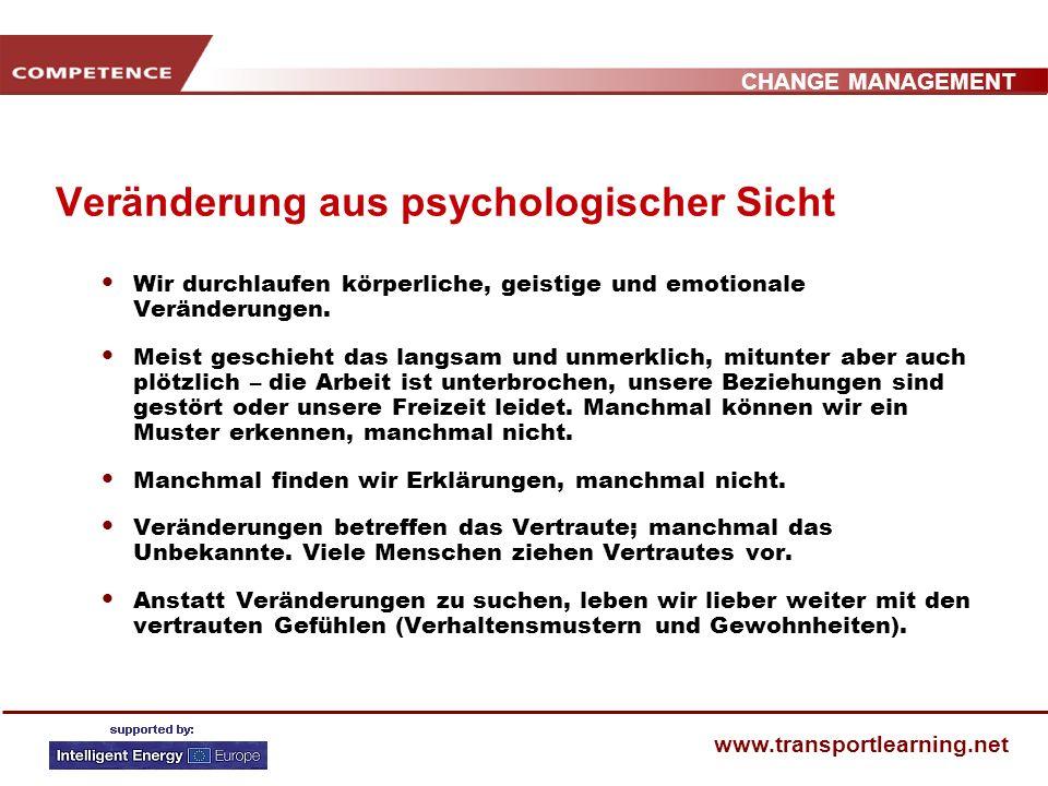 Veränderung aus psychologischer Sicht