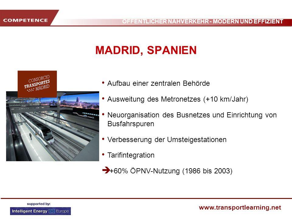 MADRID, SPANIEN Aufbau einer zentralen Behörde