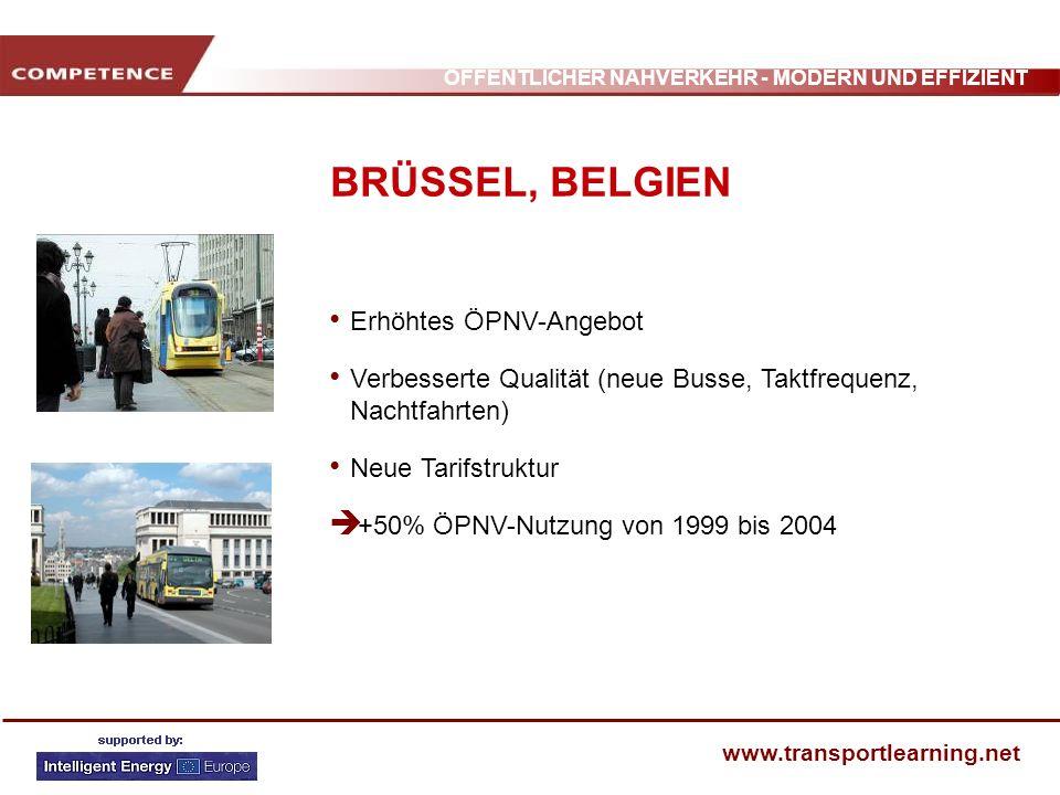 BRÜSSEL, BELGIEN Erhöhtes ÖPNV-Angebot