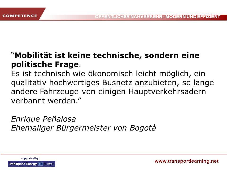 Mobilität ist keine technische, sondern eine politische Frage.