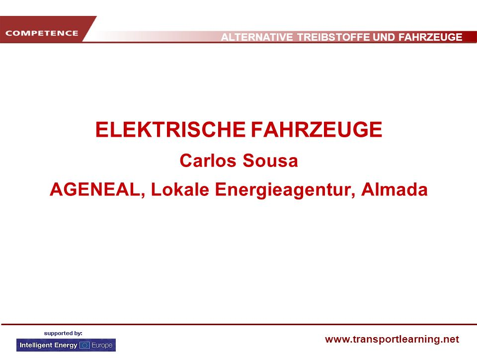 ELEKTRISCHE FAHRZEUGE Carlos Sousa AGENEAL, Lokale Energieagentur, Almada