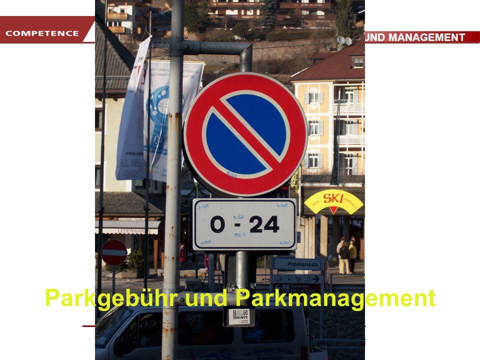 Parkgebühr und Parkmanagement